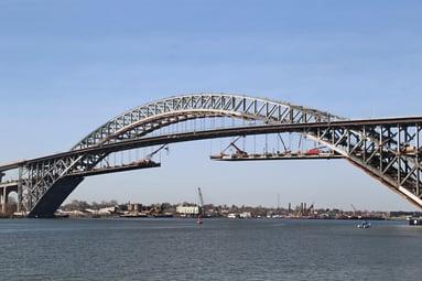 Bayonne bridge under construction