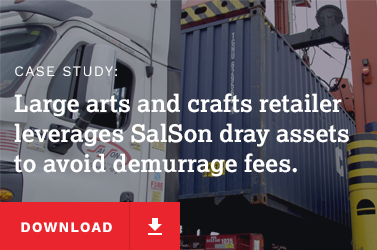 large arts and crafts retailer leverages SalSon dray assets to avoid demurrage fees